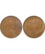1899-VBP Denmark 2 Ore PCGS MS62 Brown Lot#G949 Nice UNC Piece - $42.36