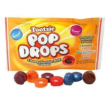 Tootsie Pop Drops Candy 10 Pouches 5 flavors of Tootsie Pops without the stick - $10.97