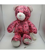 Build A Bear Pink Music Playing Bear Stars Speaker Plush Stuffed Animal ... - $14.80