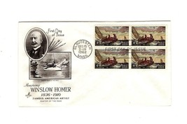 FDC ENVELOPE-HONORING WINSLOW HOMER  BL4-1962 ART CRAFT CACHET BK12 - $1.94