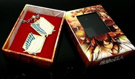 Attack on Titan Scouting Legion golden Brooch and Necklace Cosplay Accessory - $9.49