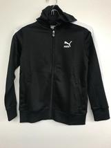 Youth Puma Sports Hoodie Full Zip Track Jacket  Black/ White   Size 7 - $15.11
