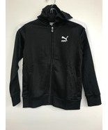 Youth Puma Sports Hoodie Full Zip Track Jacket  Black/ White   Size 7 - $15.11