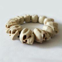 Skull Bracelet 100% Plastic Original Bone Color Halloween Props Party Ac... - $268,99 MXN
