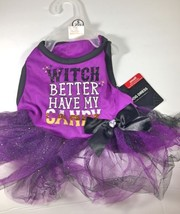 Halloween Dog Dress Witch Better Have My Candy Size Extra Small XS NEW - $9.99