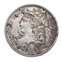 1831 Bust Half Dime H10C XF Condition, Strong Detail for Grade on Both S... - $163.35