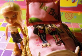 Lil Bratz Bed sheet and doll lot fits Fisher Price Loving Family Dollhou... - $8.90