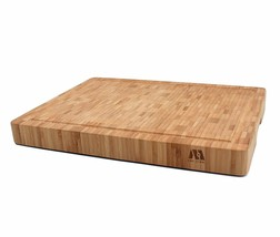 M MH ZONE Large Thick End Grain Bamboo Cutting Board | Professional, Ant... - £26.67 GBP
