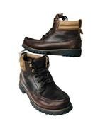 Eddie Bauer Women Size 9 M Oiled Brown Leather Gore-Tex Waterproof Hikin... - $39.55
