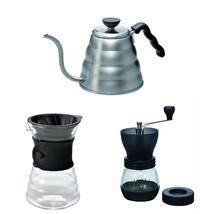 Hario V60 - 1.2 Liter Kettle,  Decanter & Coffee Mill -  Three Coffee Pr... - $108.89