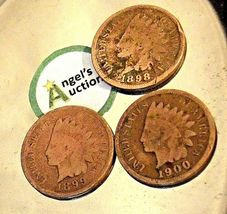 Indian Head Penny 1898, 1899, and 1900  AA20-CNP2133 Antique image 6