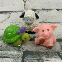 Fisher Price Little People Animal Figures Lot Sheep Pig Turtle - $11.88