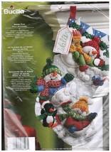 Christmas Stocking Snowmen Felt Kit | Personalized Stocking Kit  - $45.00