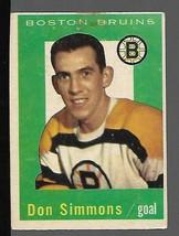 1959-60 Topps #11 Don Simmons VG - $9.88