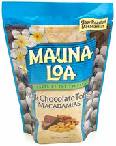MILK CHOCOLATE TOFFEE MACADAMIAS MAUNA LOA MACADAMIA NUTS 6 / 10 OZ BAGS - $98.95