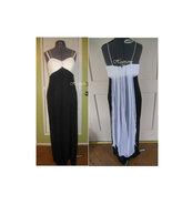 Elegant 50's style formal dress Vintage glam starlet  Black white Hollywood - $33.00