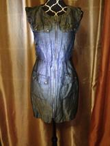 Cynthia Steffe Black Linen Silk 4-Pocket Casual SL Dress sz S - $14.96