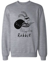 Robbit Funny Christmas Grey Sweatshirt Great Gift Idea for Holiday - $20.99+