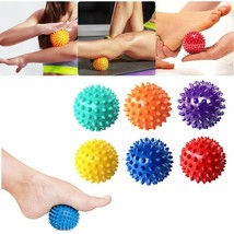 Lacrosse Spiky Massage Ball Yoga Fitness Trigger Point Muscle Pain Relie... - $6.64