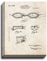 Underwater Eye Protector Patent Print Old Look on Canvas - $39.95+