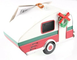"Wondershop Target 5"" Tin Camping Trailer With Wreath Christmas Ornament NEW 2018 image 2"