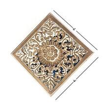 "Deco 79 23774 Wood Wall Panel, 36"" x 36"", White - $107.36"