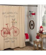 Farmer's Market Bike Flower Market Shower Curtain April & Olive Co. Vhc ... - $72.00