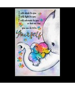Autism Elephant I Will Speak For You I Will Fight For You Satin Portrait... - $19.00+