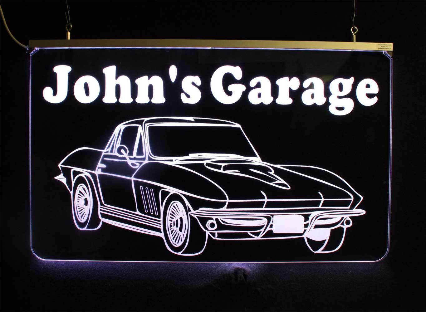 Chevy Corvette Personalized  LED Multi-Color Changing Sign