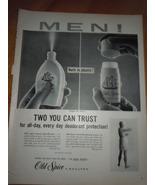 Old Spice Spray or Stick Deodorant Print Magazine Ad 1960 - $3.99