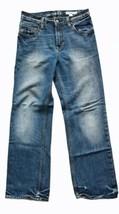 Gap Kids 1969 Boy Denim Blue Jeans 14 Original Adjustable Waist Distressed Faded - $16.14