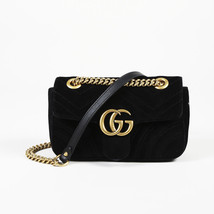 "Gucci Velvet Mini ""Marmont"" Shoulder Bag - $1,325.00"