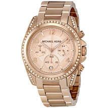 MICHAEL KORS MK5263 ROSE GOLD BLAIR CHRONO ANALOGUE WATCH - BRAND NEW - ... - $118.49