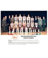 1983 PHILADELPHIA 76ers team 8X10 PHOTO BASKETBALL NBA SEVENTY SIXERS CH... - $3.95