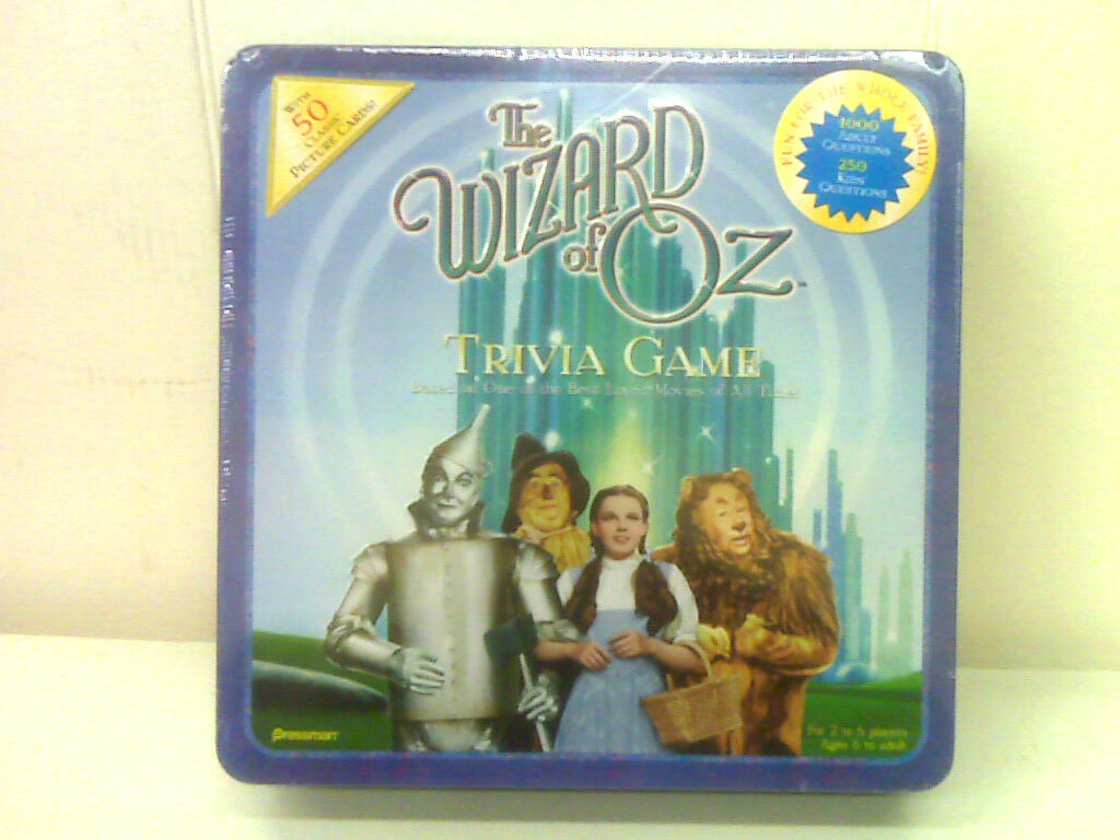 Primary image for NEW - THE WIZARD OF OZ TRIVIA GAME -METAL CONTAINER - MADE 1999 - COLLECTIBLE