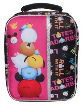 "NEW Disney Pixar Awesome 9.5"" Black Tsum Tsum Lunch Pail Box Bag Container NWT"
