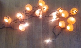 String of 20 Lights with Jack-O-Lantern Heads - Working Condition - $6.92