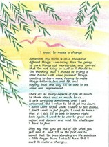 Blue Mountain Arts I WANT TO MAKE A CHANGE Greeting Card w/ Envelope 198... - $3.99