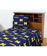 Michigan Wolverines Cotton Sheet Set - Queen - $67.90+