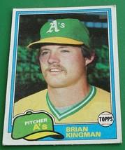 Brian Kingman, A's, 1981, #284 Topps Baseball Card, VG COND - $2.96