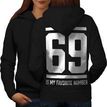 69 Favorite Number Funny Sweatshirt Hoody Sports Club Women Hoodie Back - $21.99+