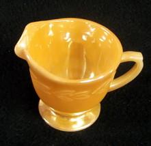 Fire King 'Laurel' Peach Lustre Footed Creamer - $5.95