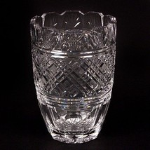 "Waterford Crystal 8"" Vase Beautiful Design, Fluted Edge, Great Condition! - $178.20"