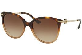 Bvlgari Sonnenbrille BV8201B 536213 Havanna Braun Rahmen Farbverlauf Lin... - $195.01