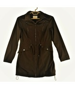 Laundry By Shelli Segal Womens Choc Brown Long Light Hooded Jacket Size ... - $67.57