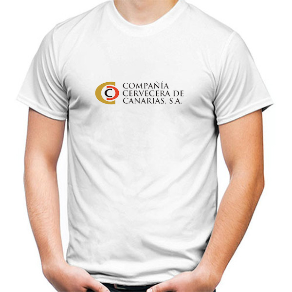 Primary image for Compania Cervecera de Canarias Tshirt White Color Short Sleeve Size S-3XL