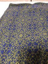 LulaRoe Tall & Curvy Tc Legging Blue Yellow Geometric Velvety Soft Nwot image 3