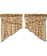 Pine Cone Prairie Swag rustic Cabin Log Home curtains - $24.74