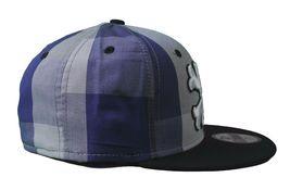 Dissizit Dx11 Bones Gingham Blue & Black New Era 59FIFTY Fitted Baseball Hat NWT image 3