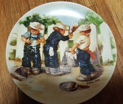 "JEANNE DOWN COLLECTORS PLATE ""A COAT OF PAINT""  KNOWLES 1985 - $18.50"